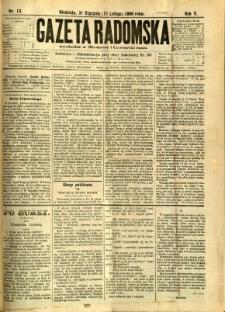 Gazeta Radomska, 1888, R. 5, nr 13