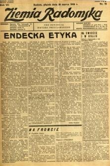 Ziemia Radomska, 1934, R. 7, nr 73