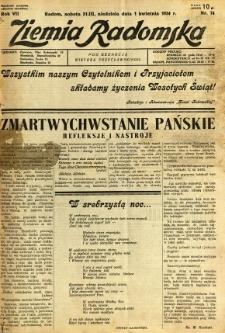 Ziemia Radomska, 1934, R. 7, nr 74