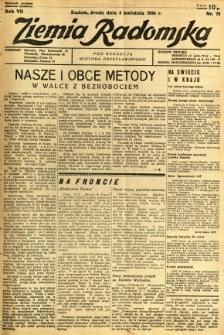Ziemia Radomska, 1934, R. 7, nr 75
