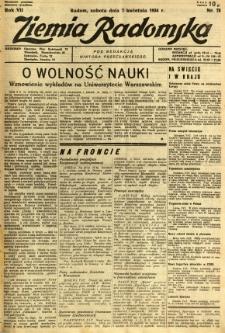 Ziemia Radomska, 1934, R. 7, nr 78