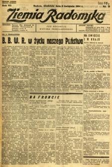 Ziemia Radomska, 1934, R. 7, nr 79