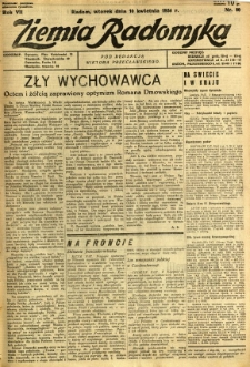 Ziemia Radomska, 1934, R. 7, nr 80