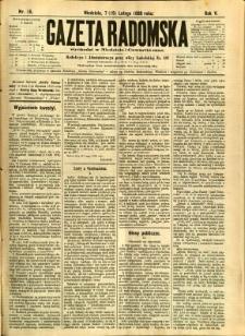 Gazeta Radomska, 1888, R. 5, nr 15