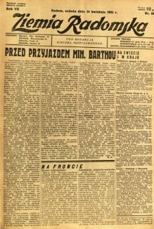 Ziemia Radomska, 1934, R. 7, nr 84