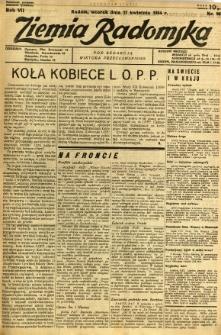 Ziemia Radomska, 1934, R. 7, nr 86