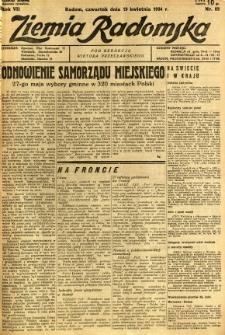 Ziemia Radomska, 1934, R. 7, nr 88