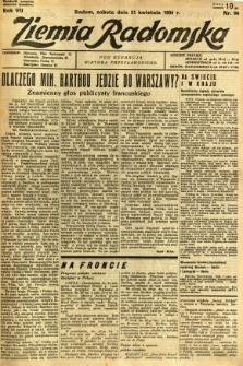 Ziemia Radomska, 1934, R. 7, nr 90