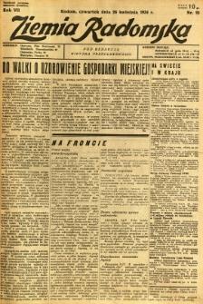 Ziemia Radomska, 1934, R. 7, nr 93