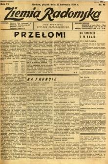 Ziemia Radomska, 1934, R. 7, nr 94