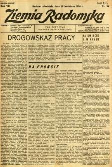 Ziemia Radomska, 1934, R. 7, nr 96