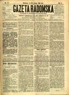 Gazeta Radomska, 1888, R. 5, nr 17