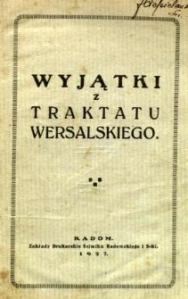 Wyjątki z traktatu wersalskiego