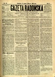 Gazeta Radomska, 1888, R. 5, nr 19