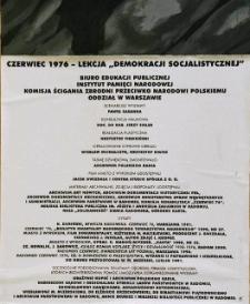 """Czerwiec 1976 - Lekcja """"Demokracji Socjalistycznej"""""""