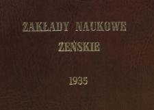 Zakłady Naukowe Żeńskie Marji Gajl : ostatni hołd szkoły 18 maja 1935