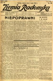 Ziemia Radomska, 1934, R. 7, nr 100
