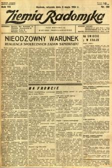 Ziemia Radomska, 1934, R. 7, nr 102