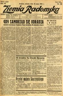 Ziemia Radomska, 1934, R. 7, nr 105