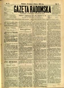 Gazeta Radomska, 1888, R. 5, nr 21