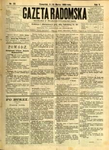 Gazeta Radomska, 1888, R. 5, nr 22