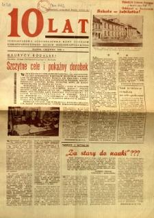 10 lat : Jubileuszowa jednodniówka Rady Uczniów Korespondencyjnego Liceum Ogólnokształcącego