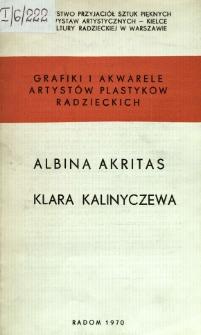 Grafiki i akwarele artystów plastyków radzieckich : Albina Akritas, Klara Kalinyczewa