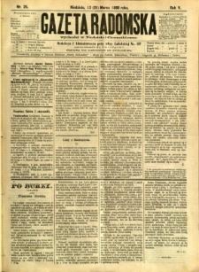 Gazeta Radomska, 1888, R. 5, nr 25