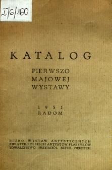 Katalog pierwszo majowej wystawy