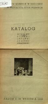 Katalog wystawy sztuki ludowej regionu kieleckiego