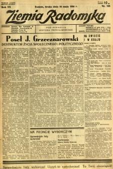 Ziemia Radomska, 1934, R. 7, nr 108
