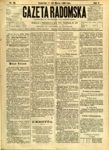 Gazeta Radomska, 1888, R. 5, nr 26