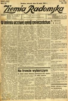 Ziemia Radomska, 1934, R. 7, nr 113