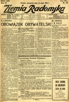 Ziemia Radomska, 1934, R. 7, nr 115