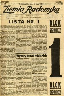 Ziemia Radomska, 1934, R. 7, nr 116