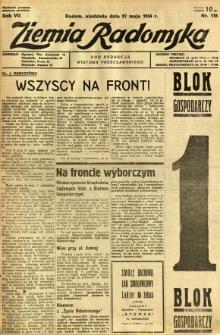 Ziemia Radomska, 1934, R. 7, nr 118