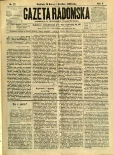 Gazeta Radomska, 1888, R. 5, nr 27