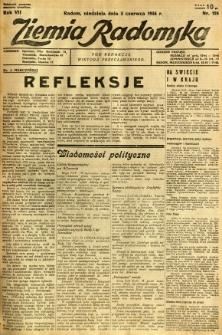 Ziemia Radomska, 1934, R. 7, nr 124