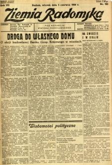 Ziemia Radomska, 1934, R. 7, nr 125