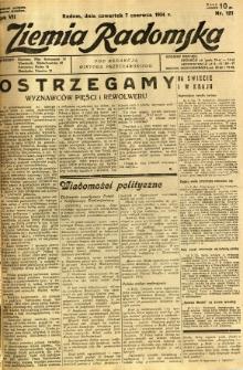 Ziemia Radomska, 1934, R. 7, nr 127