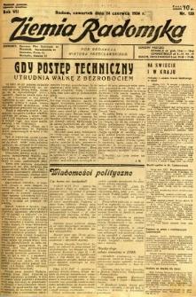 Ziemia Radomska, 1934, R. 7, nr 133