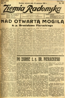Ziemia Radomska, 1934, R. 7, nr 137