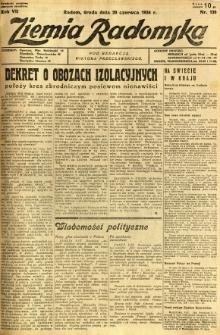 Ziemia Radomska, 1934, R. 7, nr 138
