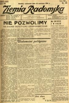 Ziemia Radomska, 1934, R. 7, nr 139