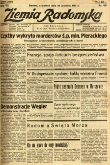 Ziemia Radomska, 1934, R. 7, nr 145