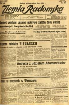Ziemia Radomska, 1934, R. 7, nr 151