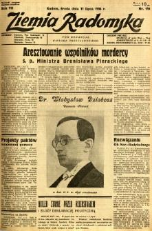 Ziemia Radomska, 1934, R. 7, nr 155