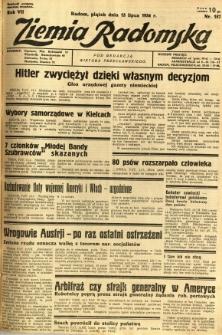 Ziemia Radomska, 1934, R. 7, nr 157