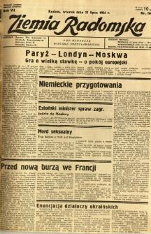 Ziemia Radomska, 1934, R. 7, nr 160