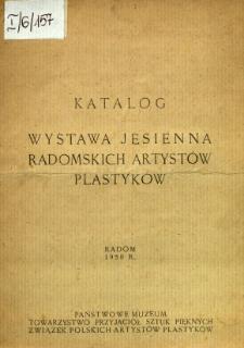 Wystawa Jesienna radomskich artystów plastyków